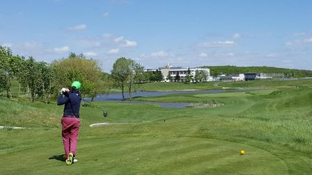 Teeing off on the Albatros course at France's golfing headquarters. Pic: Adam Ruck