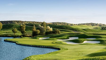 The beautiful course at the Golf National. Pic: Steve Carr