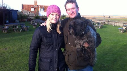 Cley helicopter crash eyewitnesses Claire and Peter Bradley.