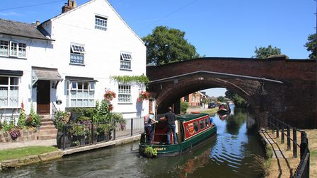 Lymm is an attractive canalside village