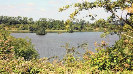 Brogborough Lake, a formery clay pit, would form part of the route (photo: Martin Ludgate)