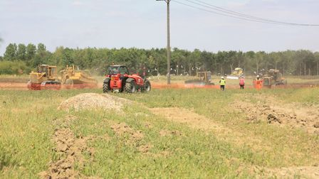 The diggers move in at the Innovation Park, where new ponds will one day form part of the route (pho