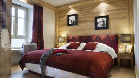 One of the luxurious chalet bedrooms - Pic: MGM French Properties