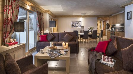 The spacious chalet living room - Pic: MGM French Properties