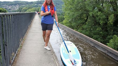 Paddle boarders are urged to walk on the towpath (photo: CRT)