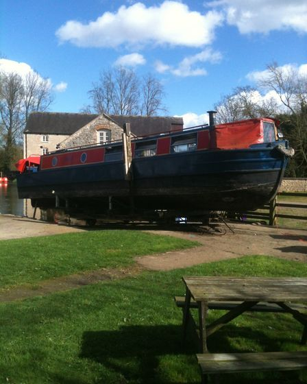 Out of the water and the overhaul journey begins (photo: Katy-Felicity Butler-Brown)