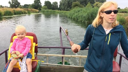 Katy-Felicity and Joules out on the river (photo: Katy-Felicity Butler-Brown)