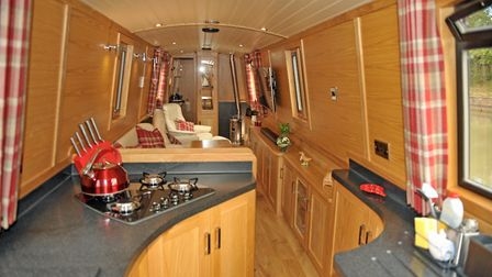 The galley has a range of interesting storage solutions (photo: Andy R Annable)