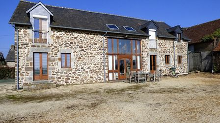 An impressive converted barn in Normandy