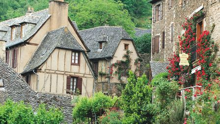 The beautiful Aveyron village of Conques, the star of our April page. Pic: Patrick Frilet/Hemis.fr