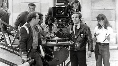 Francois Truffaut on the set of the film Day for Night copyright Unifrance