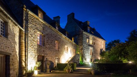 Le Vieux Chateau Le Renouard is a magical place by night (c) Ed Dabney Photography