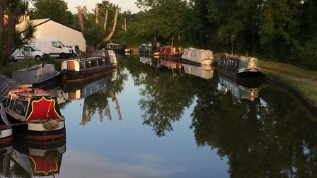 The tranquil scene at Braunston