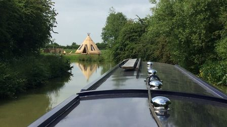 An unusual sight on the Oxford Canal