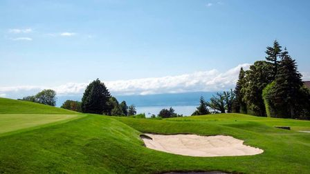 The enviable vista over Lake Geneva from the Evian course. Pic: EvianResort2016 CC By SA 4.0