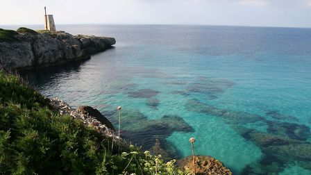 The gorgeous azure seas at the 16th hole of the Corsican Sperone course. Pic: Alex Super