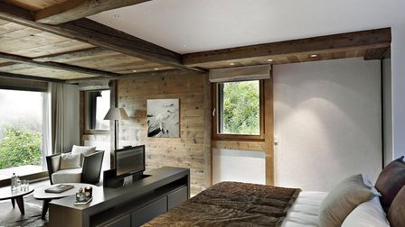 The chalet has four double bedrooms (c) MGM French Properties