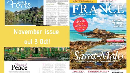 Get your copy of FRANCE Magazine's November issue!