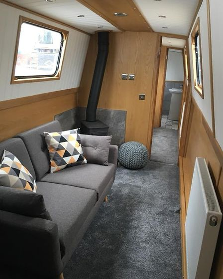 Modern decor and mod cons on board