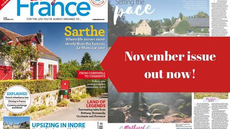 The November 2018 issue of Living France magazine is on sale now