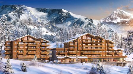 An artist's impression of the magnificent Lodge des Neiges. Pic: MGM Properties