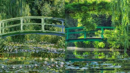 Monet's beautiful garden in Giverny, then and now. Photo: Fondation Claude Monet, Giverny