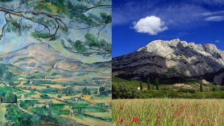 Mont Sainte-Victoire in Provence, then and now. Photo: Martine, CC By 2.0