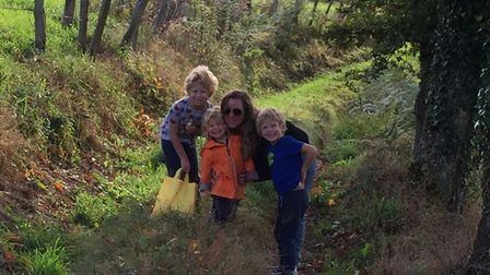 Sam loves being able to give her children the opportunity to grow up in the French countryside