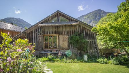 A renovated farmhouse in the French Alps