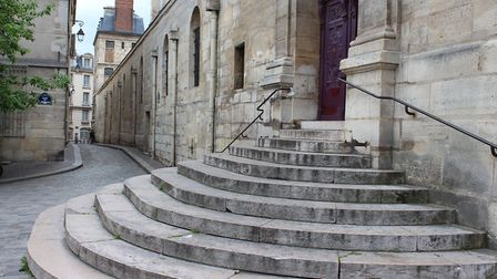 These steps near Saint-Étienne du Mont Church play a vital role in Midnight in Paris. Pic: Rodney/CC