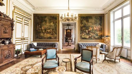 The stunning interior of the château © Rhiannon Hopley