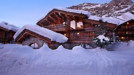 The exterior of Chalet Marco Polo in Val d'Isère