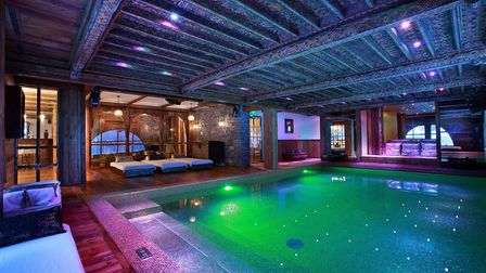 The swimming pool is designed by Christian Lacroix