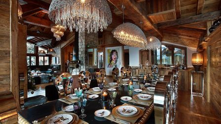 The luxurious dining area at Chalet Marco Polo