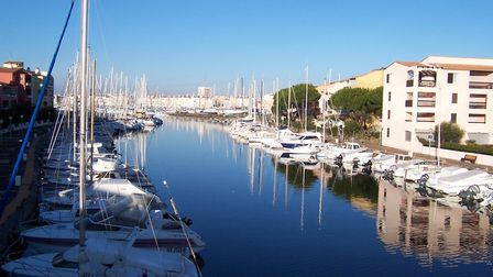 Agde is a popular holiday place with a busy marina and Europe's largest naturist village