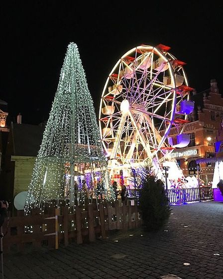 Ferris wheel and Christmas tree in Bethune. Pic: Steve Mather