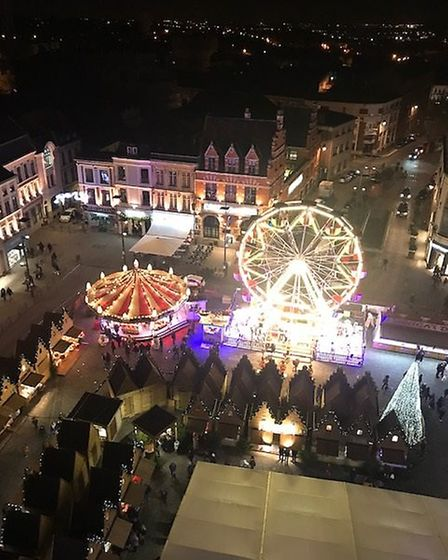 Chalets and entertainment at Bethune Christmas market. Pic: Steve Mather