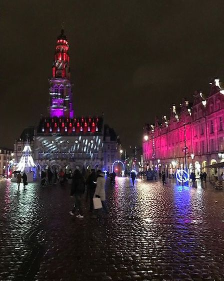 A wonderfully illuminated Grand'Place in Arras. Pic: Steve Mather