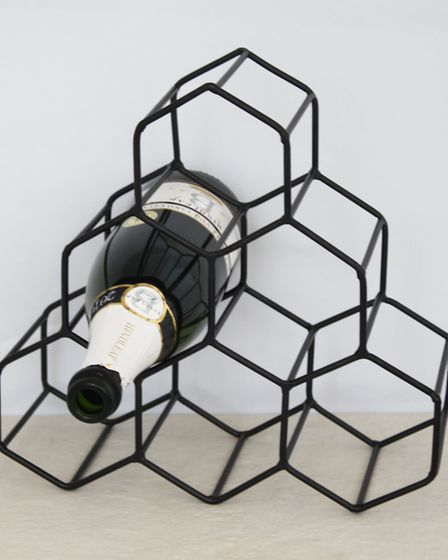 This geometric wine rack would look great filled with French wines