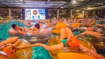 The awesome cine-piscine at the Clermont-Ferrand Film Festival. Pic: Baptiste Chanat