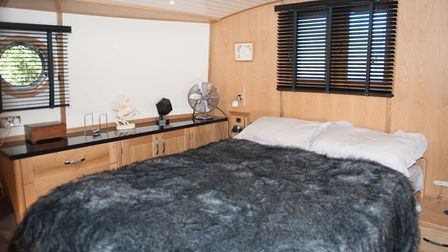 The width of the bed is emphasised by the king bed