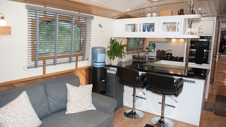 The large galley is packed with style