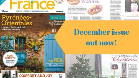 The December 2018 issue of Living France magazine is on sale now