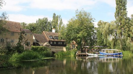 On the Great Ouse at Brampton watermill - now a restaurant (photo: Martin Ludgate)