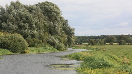 As the Little Ouse approaches Brandon, surroundings become less fen-like and more like a natural riv