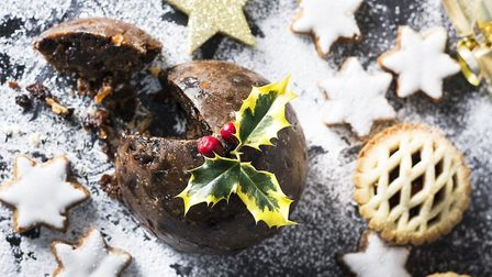 Christmas pudding and mince pies (c) Getty Images/iStockphoto