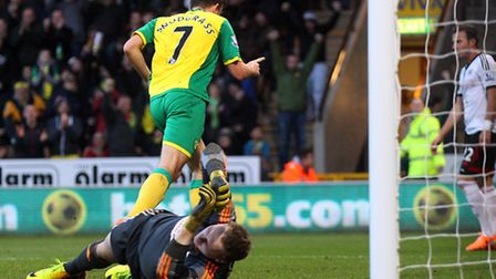 Norwich City midfielder Robert Snodgrass equalises in Saturday's 1-1 FA Cup third round tie against