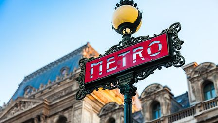 A sign for the Paris Metro (c) Fabrice Cabaud/Getty Images