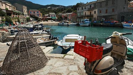 We can just imagine enjoying an ice cream in Centuri harbour in the balmy Corsican summer. Pic: Bens