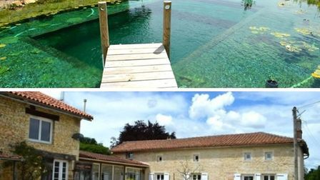 House with stunning salt water pool in Charente (properties-in-charente.com)